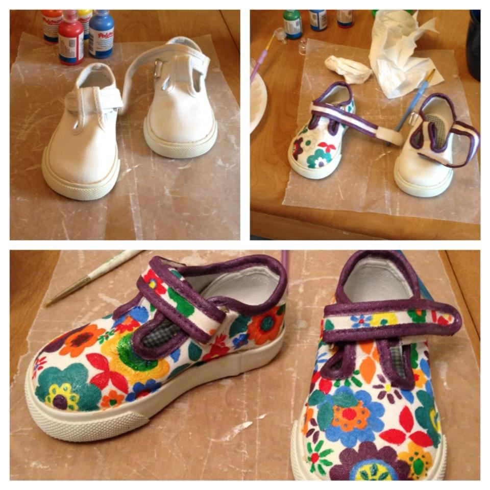 Elanor's painted baby shoes